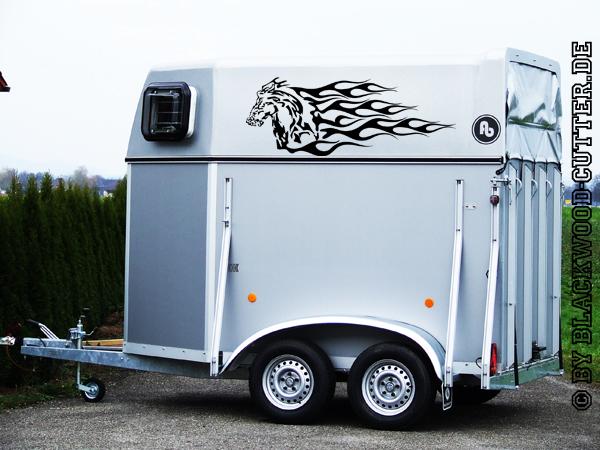 pferde anh nger aufkleber pferd dekor tandem traber huf ebay. Black Bedroom Furniture Sets. Home Design Ideas